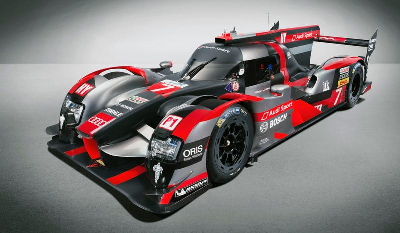 Illustration for article titled The New Audi R18 Le Mans Car Still Beats That Wacky Diesel Drum