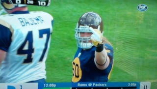 Illustration for article titled A.J. Hawk Has A Message For All Y'all Out There Watching The Packers/Rams Game