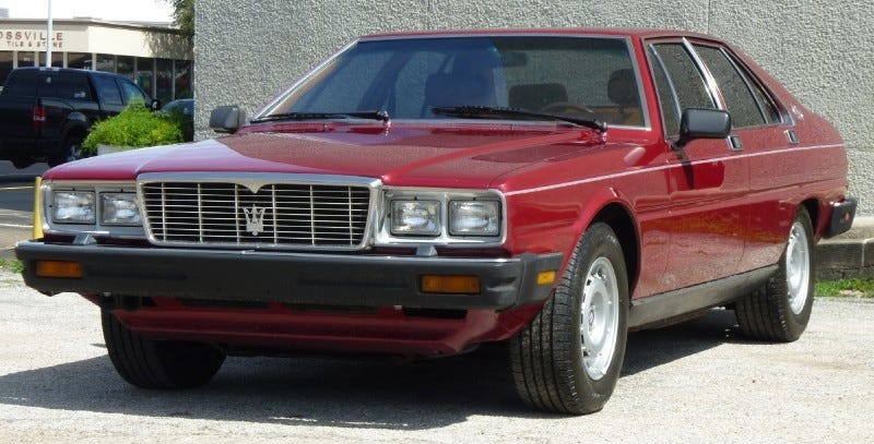 Illustration for article titled For $10,995, This 1982 Maserati 4Porte Is The Door To Italian Luxury