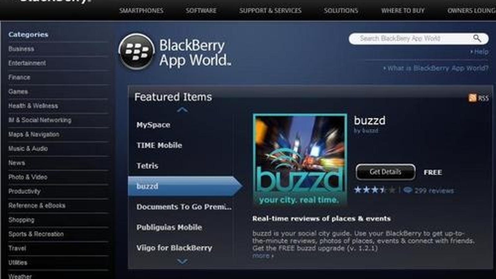 BlackBerry App World Now Available Through Your Browser