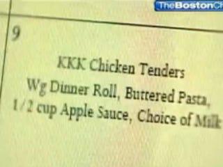 Illustration for article titled Crazy Talk: Typo Puts 'KKK Chicken' on Menu