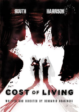 Illustration for article titled Cost of Living promo and set photos and a poster