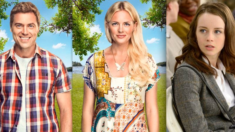 Welcome To Sweden's Greg Poehler and Josephine Bornebusch (left), Working The Engels' Kacey Rohl