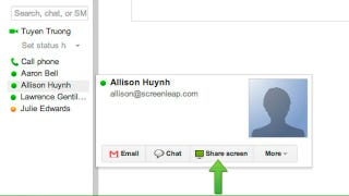 Illustration for article titled Screenleap for Gmail Offers One-Click Screen Sharing from Your Inbox or Google Contacts