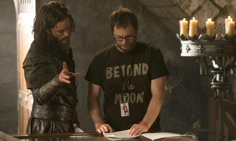 Duncan Jones (right), seen here on the set of Warcraft, is ready to shoot his long-time passion project Mute. Image: Universal