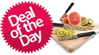 Illustration for article titled This Kuhn Rikon 3-Piece Animal Print Cutlery Set Is Your Aww-How-Cute Deal of the Day