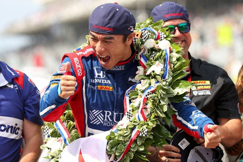 Illustration for article titled Takuma Sato Wins The 2017 Indianapolis 500