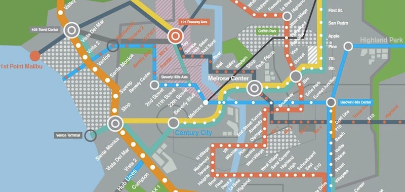 A Map Of The Futuristic Los Angeles Subway From Spike Jonze S Her