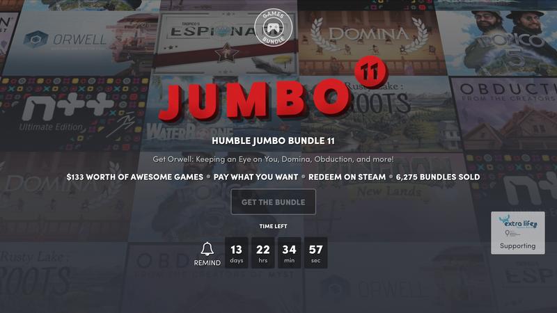 Humble Jumbo Bundle 11 | Humble