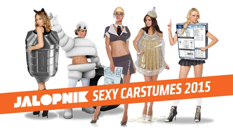 Illustration for article titled Check Out The 2015 Line OfJalopnikSuper-Sexy Halloween Carstumes!