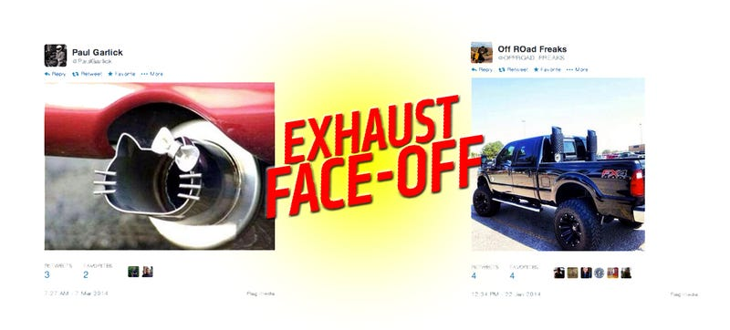Illustration for article titled Epic Exhaust Face-Off: Rolling Coal Vs. Hello Kitty