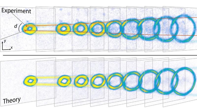 The expanding Bose-Einstein condensate.