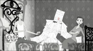 Illustration for article titled Proof that Disney's Paperman short was just a ploy for a threesome