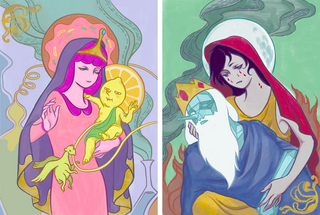 Illustration for article titled Adventure Time's Princess Bubblegum and Marceline as Modern Madonnas