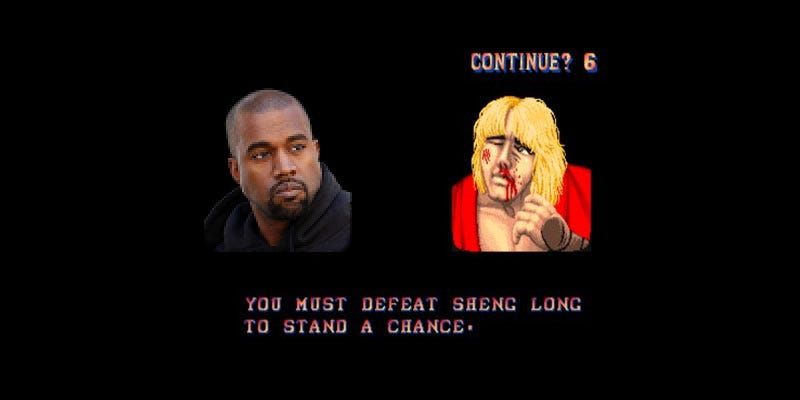 Illustration for article titled Yep, That's Street Fighter On Kanye West's New Album