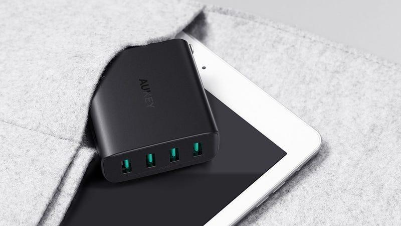 Aukey Four-Port USB Travel Charger | $16 | Amazon | Promo code AUKEYD48