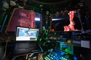 Illustration for article titled The International Space Station Workspace