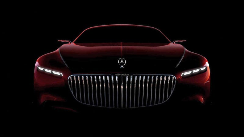 Illustration for article titled Here Is The Glorious Luxury-Face Of TheVision Mercedes-Maybach 6