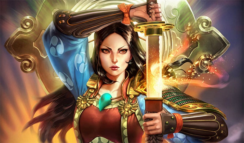 Illustration for article titled Smite's Amaterasu Might Not Be A Wolf, But She Sure Fights Like One