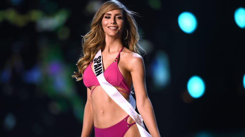 Angela Ponce of Spain models swimwear during the preliminary Miss Universe competition in Bangkok on December 13, 2018.