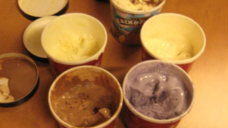 "Illustration for article titled Taste Test: Cold Stone Creamery ""batter"" ice-cream flavors"