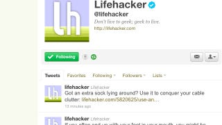Illustration for article titled Follow Lifehacker and Its Writers on Twitter for Tips and Tricks All Day Long