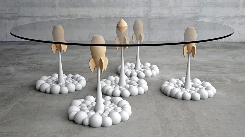 Illustration for article titled Whimsical Coffee Table Recreates the Start of our Planet's Nuclear Apocalypse