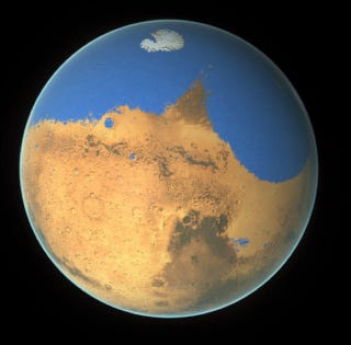Illustration for article titled Mars Loses an Ocean But Gains the Potential for Life