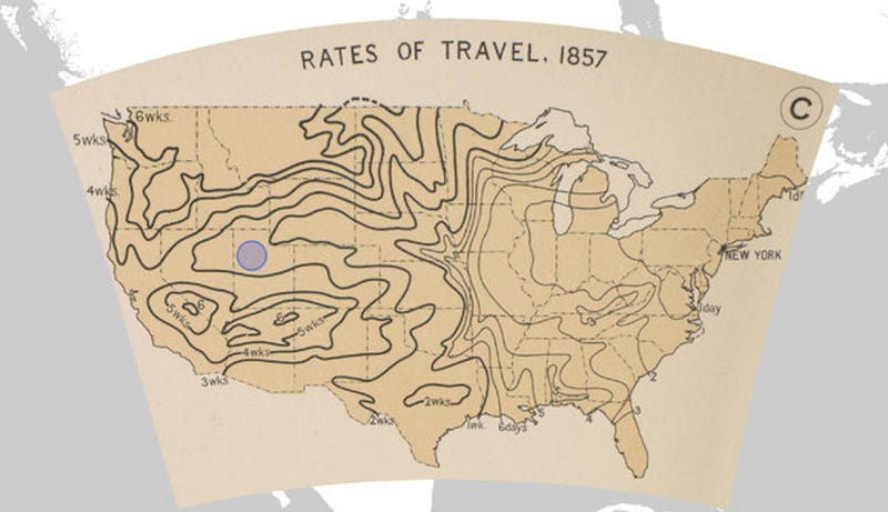 Illustration for article titled Spend Your Weekend Gawking at Nearly 700 Old Maps of the U.S.