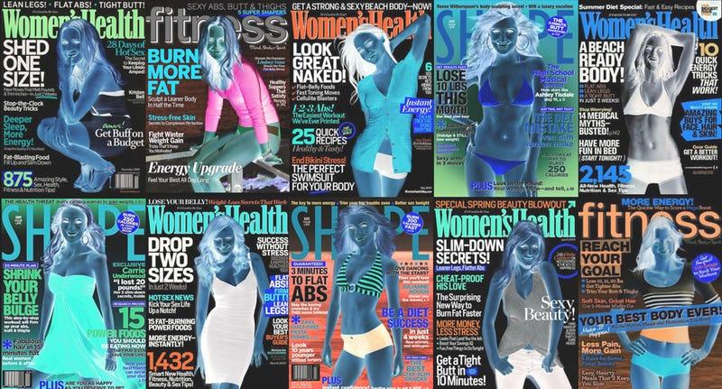 Illustration for article titled Women's Fitness Magazines Are Bullshit