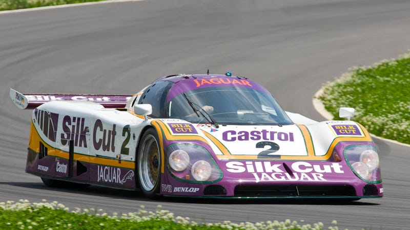 Illustration for article titled Take A Closer Look At The Le Mans-Winning Silk Cut Jaguar XJR-9