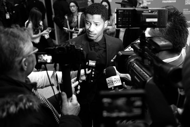 Director-actor-producer Nate Parker attends The Birth of a Nation premiere during the 2016 Sundance Film Festival at Eccles Center Theatre on Jan. 25, 2016, in Park City, Utah. Nicholas Hunt/Getty Images
