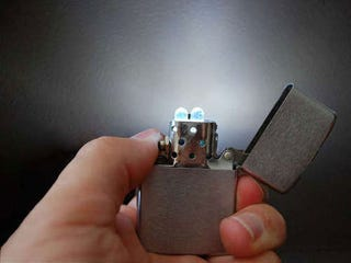 Illustration for article titled Turn a Zippo Lighter into an LED Flashlight