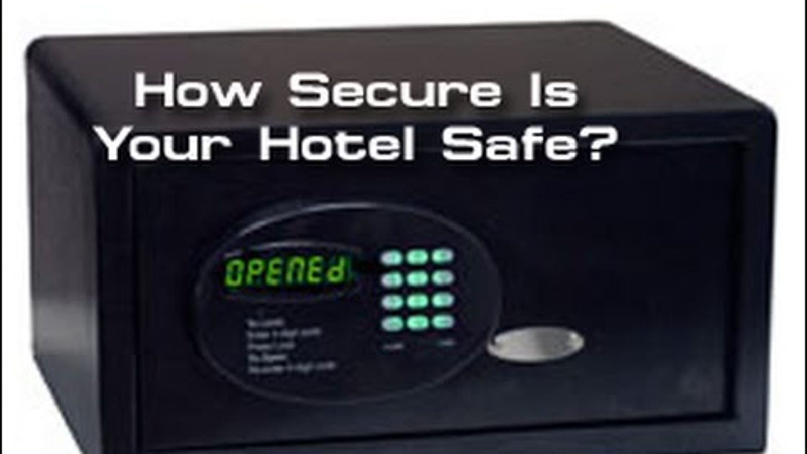 Watch This Guy Open a Hotel Room Safe With a Pocketknife and
