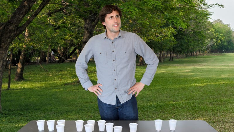 Illustration for article titled Man At Park Who Set Up Table Full Of Water Cups Has No Idea How Passing Marathon Runners Got Impression They Can Take Them