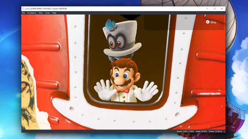 Illustration for article titled Super Mario Odyssey Is Already Playable In An Emulator