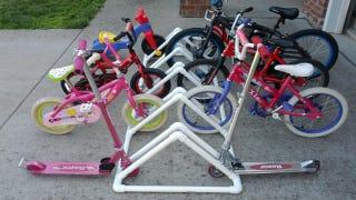Illustration for article titled Build a PVC Bike Rack