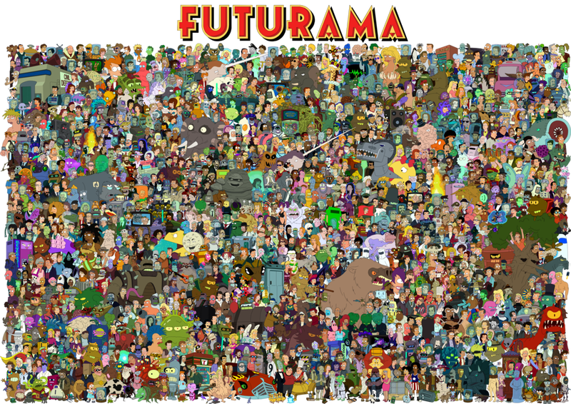Illustration for article titled The entire cast of Futurama on one massive poster