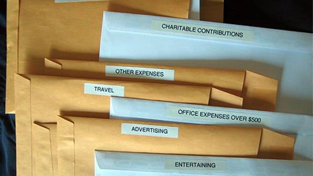 how to organize work receipts