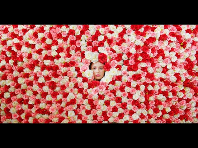 """It'll take more than roses to win over iyla in her mind-bending music video, """"Flowers"""""""