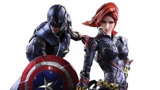 Illustration for article titled An Even Better Look At Square-Enix's Captain America And Black Widow