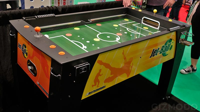 Illustration for article titled The Tiny Players On This Foosball Table Have Been Replaced With Air Jets