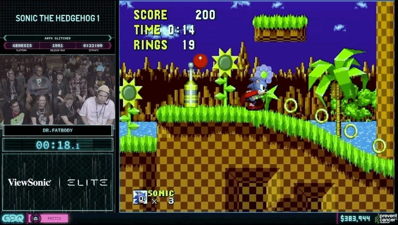 AGDQ's 'Sonic Block' Embodies The Hedgehog's Speed And Attitude