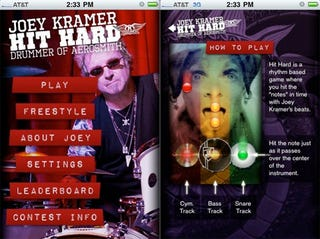 """Illustration for article titled Aerosmith iPhone App """"Hit Hard"""" Trains You Up To Be A (Hairy) Drummer"""