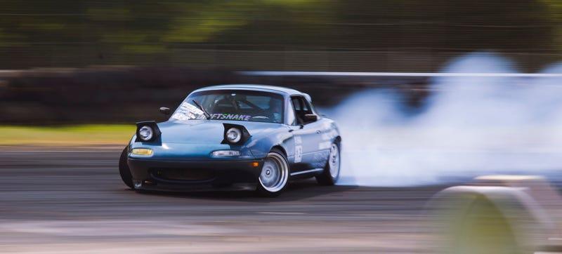 A local Miata drift car at New Jersey's Club Loose last year. Photo Credit: Raphael Orlove