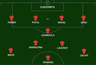 Illustration for article titled The Spoiler's Greatest Ever Barcelona XI