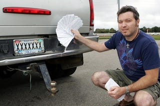 """Illustration for article titled """"XXXXXXX"""" License Plate Leads To $19,000 In Tickets"""