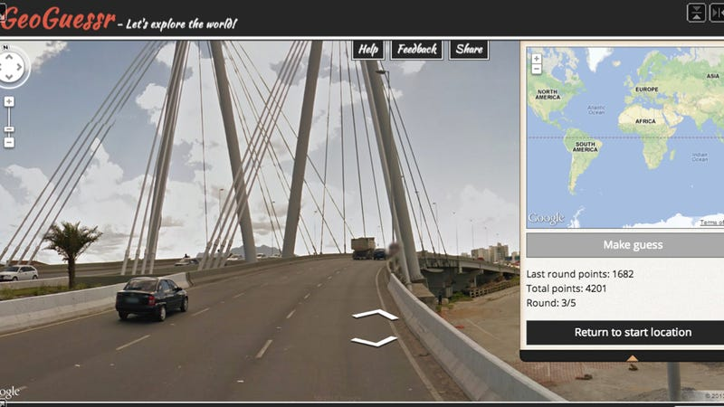 Illustration for article titled GeoGuessr Is The Most Addictive Map Game Ever Of All Time Forever