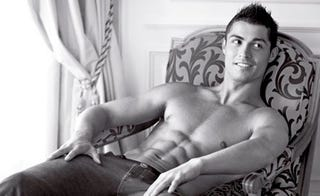 Illustration for article titled Cristiano Ronaldo's Armani Ads Revealed; Courtney Love Always Packs Extra Panties