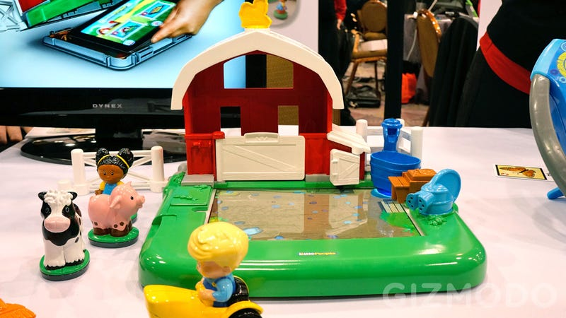 Illustration for article titled Fisher-Price's Iconic Farm Set Gains an iPad Dock and Loses Imagination Requirements